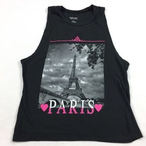 On Fire ••• Paris Themed Muscle Crop Top
